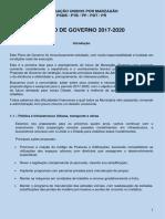 Plano de Governo 2017-2020