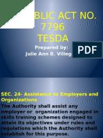 Tesda Rep.act. 7796