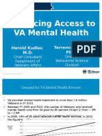 Enhancing Access to VA Mental Health