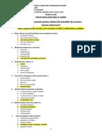 Admitere Medicina Veterinara 2015