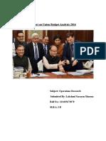 Budget Analysis 2016