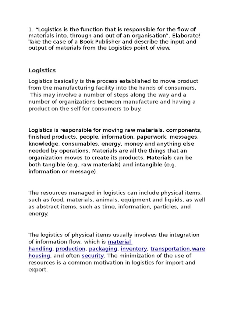 Information logistics and its functions