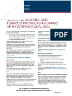 Alcohol and Tobacco Fact Sheet