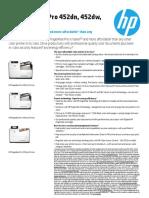 HP PageWide Pro 452-552 Printer Series
