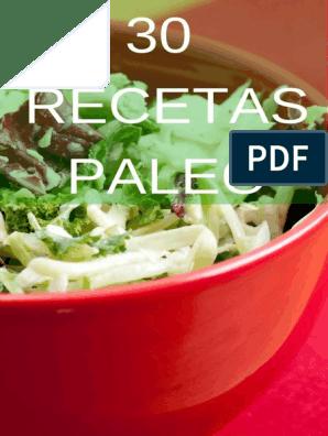 Recetas dieta paleolitica menu semanal pdf