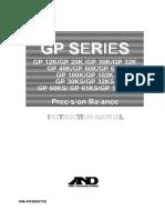 A&D GP Series Precision Balance Instruction Manual