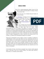 EXPOSICION PENAL Enrico Ferri Trabajo de Criminologia