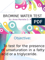 Bromine Water Test