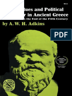 Adkins Moral Values and Political Behaviour in Ancient Greece From Homer to the End of the Fifth Century