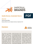 IMT Imperial TObacco Imperial Brands Barclays Global Consumer Staples Conference Sept 2016