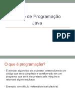Aula de Programação Java Iniciantes