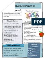 6th grade newsletter