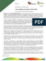 20 10 2011 - El gobernador Javier Duarte de Ochoa en entrevista habla sobre el Programa Adelante.