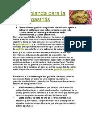 Dieta gastritis cronica pdf