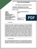 Carta Descriptiva Int. Legislacion Laboral y Cial