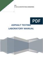 Asphalt Laboratory Manual