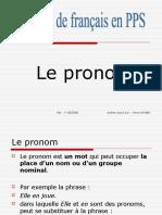 Grammaire Francais Le Pronom