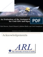 An Evaluation of the Vestigial Signal Defense for Civil GPS Anti-Spoofing