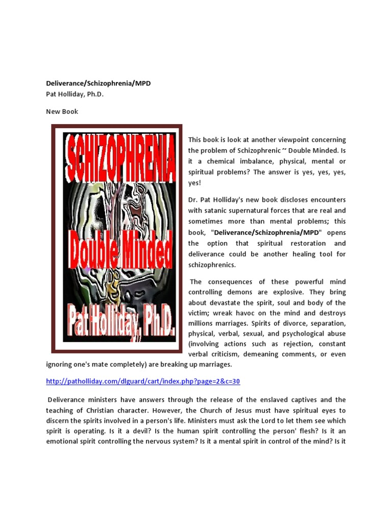 What are the tools for a deliverance minister pdf