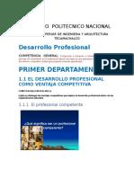 1er. Parcial Desarrollo Profesional
