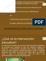 Intervención Educativa (Presentación)