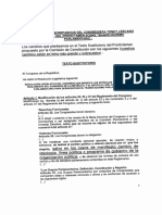 Esta es ley contra transfuguismo que se rechazó y a cambio se aprobó ley para evitar mas fugas de Fuerza Popular.