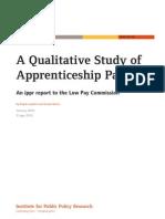 A Qualitative Study of Apprenticeship Pay