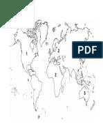 Mapa Mundo Para Rellenar Continentes y Mares