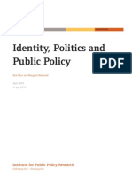 Identity, Politics and Public Policy