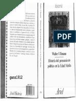 Ullmann, Walter-Historia Del Pensamiento Político en La Edad Media
