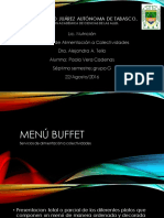 Menu Buffet