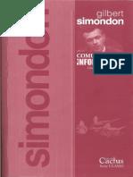 COMUNICACIO_N E INFORMACIO_N_Curso de Simondon_pro_logo, Intro y Parte 1[248478]