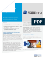 Magicinfo Player s3 Solutionbrief 20151005