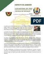 Prospecto Eo Pnp policia