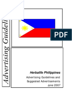 Philippine Advertising Guidelines and Suggested Ads - June 2007