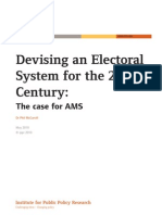 Devising an Electoral System for the 21st Century