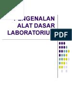 Pengenalan Alat Dasar Laboratorium