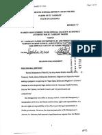 Judgment Warren Montgomery v. Pat Brister 20 September 2016