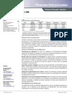 Informe Calificación SBC 144