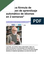 La nueva fórmula de Lauridsen de aprendizaje automático de idiomas en 2 semanas.docx
