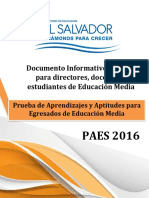 Documento Informativo Paes 2016