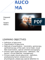 Glaucoma Presentation
