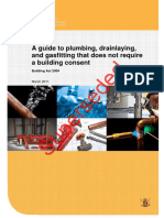 Guide Plumbing Gasfitting Drainlaying No Consent NZ