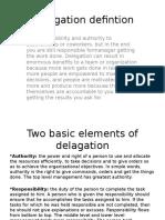 Delagation-defintion