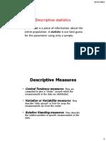 4 Descriptive Statistics