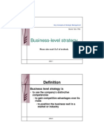 Business-Level Strategy - CORE C3(1)