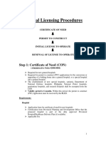 General Licensing Procedure (DOH)