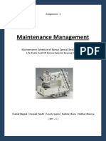 Maintenance Assignment