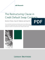 [Lehman Brothers] The Restructuring Clause in Credit Default Swap Contracts.pdf