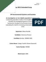 Environmental Systems and Societies Exemplar Essay